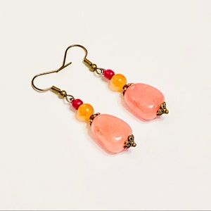 MELON MENAGERIE Aventurine & Agate Earrings